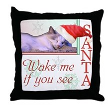 Wake Me If You See Santa Throw Pillow