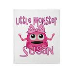 Little Monster Susan Throw Blanket