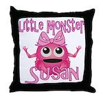 Little Monster Susan Throw Pillow