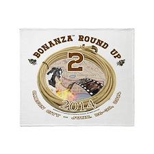 BONANZA ROUND UP 2014 Throw Blanket