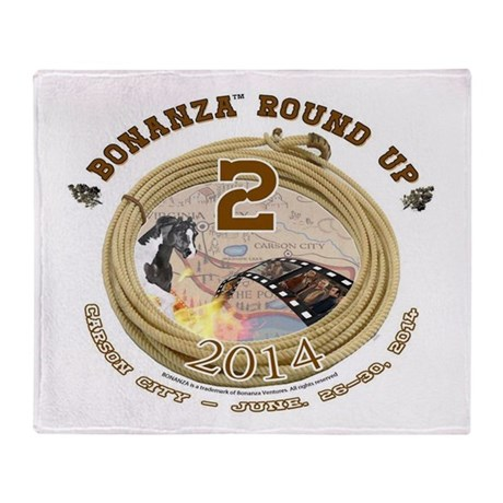 BONANZA ROUND UP 2014 Throw Blanket