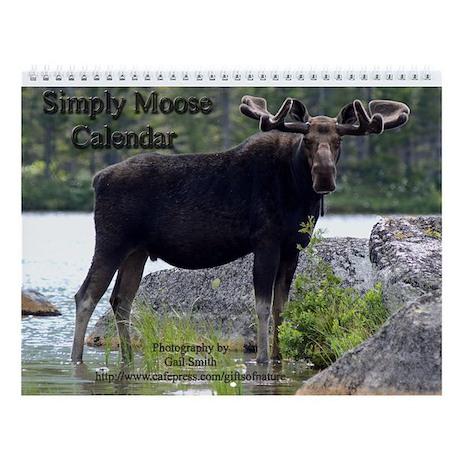 Simply moose Wall Calendar