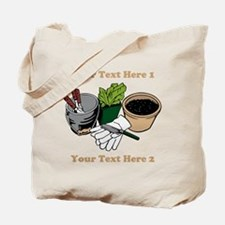 Gardening. Custom Text Tote Bag