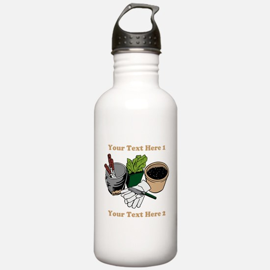 Gardening. Custom Text Water Bottle