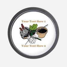 Gardening. Custom Text Wall Clock
