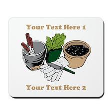 Gardening. Custom Text Mousepad