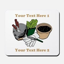 Gardening. Custom Text Mousepad