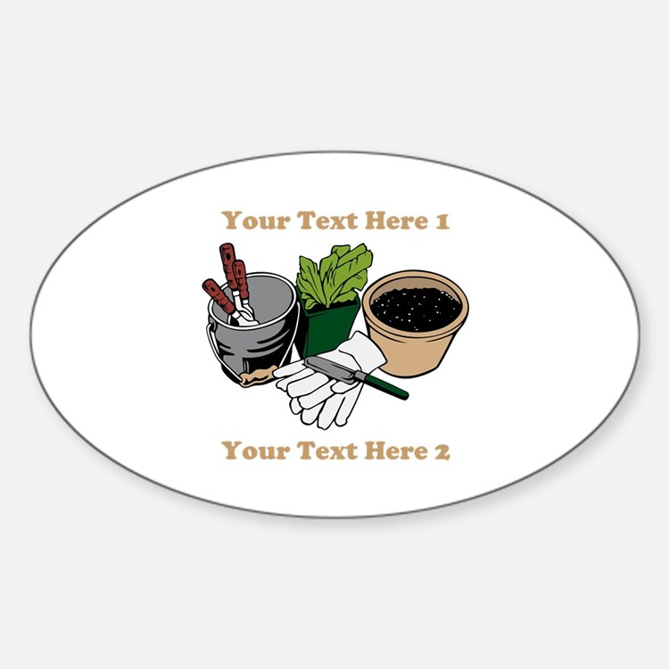 Gardening. Custom Text Decal