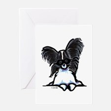 Masked Papillon Greeting Card