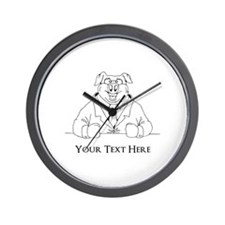 Pig in Suit. Custom Text Wall Clock