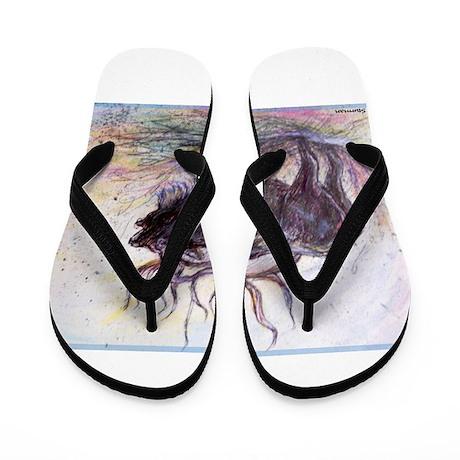 Elk, wildlife, art, Flip Flops