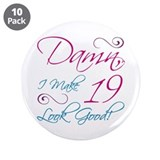 19th birthday party Buttons