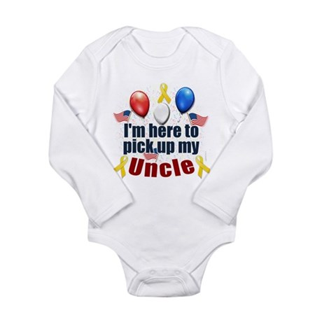 Pick up my Uncle Long Sleeve Infant Bodysuit