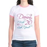20 birthday Jr. Ringer T-Shirt