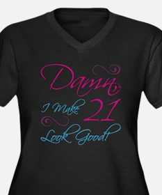 21st Birthday Humor Women's Plus Size V-Neck Dark