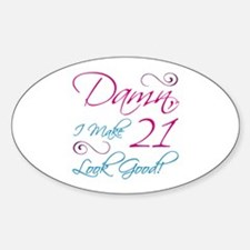 21st Birthday Humor Decal