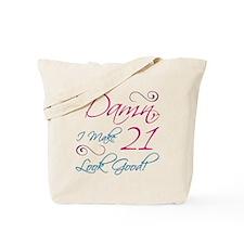 21st Birthday Humor Tote Bag