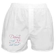21st Birthday Humor Boxer Shorts
