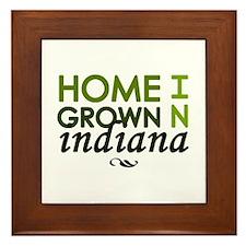 'Home Grown In Indiana' Framed Tile