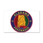 Alabama Freemasons Car Magnet 20 x 12