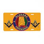 Alabama Freemasons Aluminum License Plate