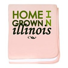 'Home Grown In Illinois' baby blanket