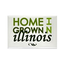 'Home Grown In Illinois' Rectangle Magnet