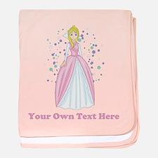 Princess. Custom Text. baby blanket