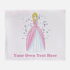 Princess. Custom Text. Throw Blanket
