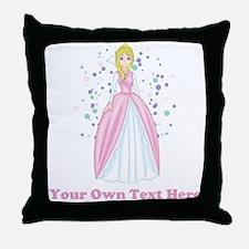 Princess. Custom Text. Throw Pillow