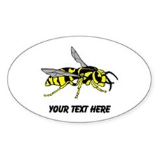 Wasp, with Custom Text. Decal