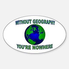 THE WORLD AWAITS Sticker (Oval)
