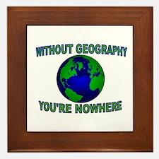 THE WORLD AWAITS Framed Tile