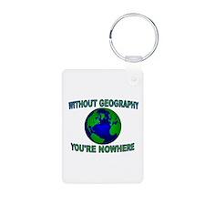 THE WORLD AWAITS Keychains
