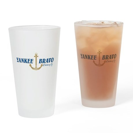 Yankee Bravo Logo Drinking Glass