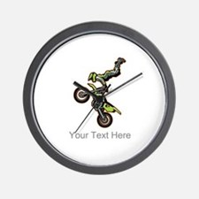 Motocross Jump Wall Clock