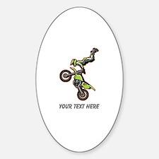 Motocross Jump Sticker (Oval)