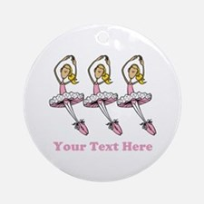 Ballerinas and Text Ornament (Round)