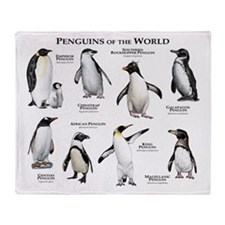 Penguins of the World Throw Blanket