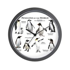 Penguins of the World Wall Clock