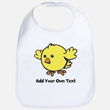 Cute Chick. Black Text Bib