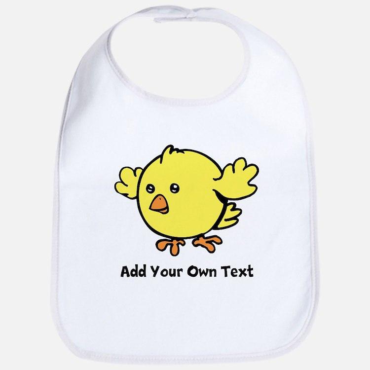 Cute Chick. Black Text Bib