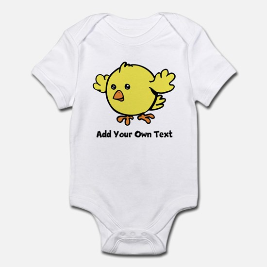 Cute Chick. Black Text Infant Bodysuit
