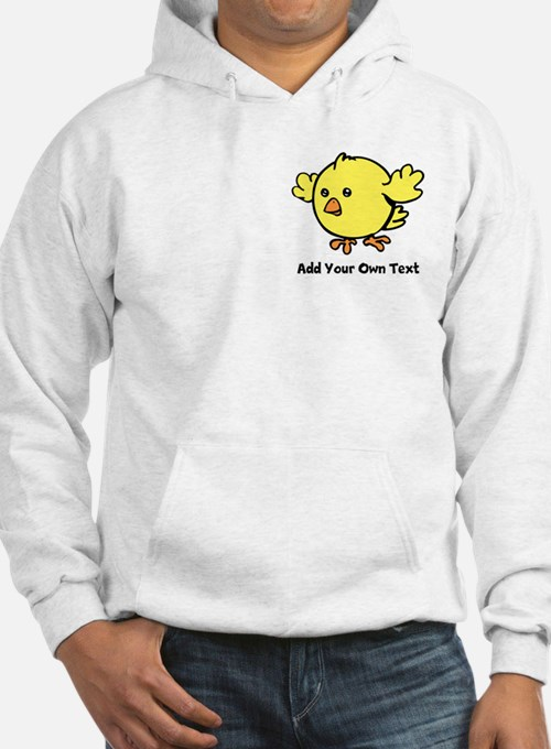 Cute Chick. Black Text Hoodie