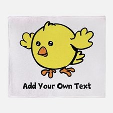 Cute Chick. Black Text Throw Blanket