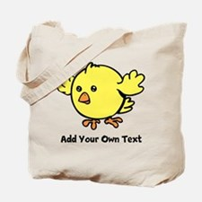 Cute Chick. Black Text Tote Bag