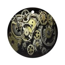 SteamPunk Gears Ornament (Round)