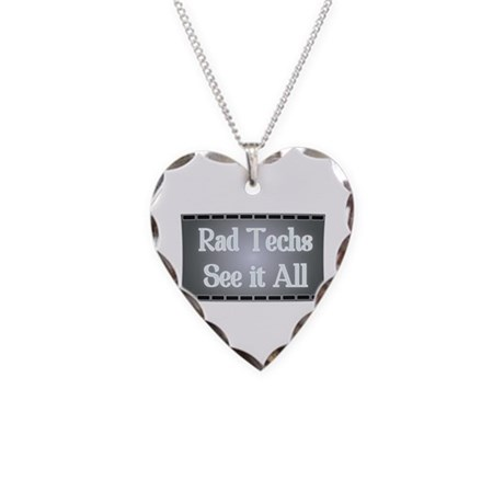 I See All. Necklace Heart Charm