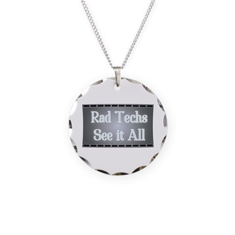 I See All. Necklace Circle Charm