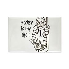 Hockey is My Life Rectangle Magnet